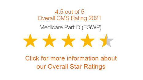 Navitus Health Solutions MedicareRx (EGWP) program received a 4.5 out of 5 stars rating by CMS.  Click for more information about our overall star ratings.